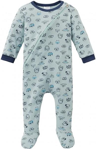 Schiesser Cool Dogs Baby- Jungen Schlafanzug mit Fuß 163393-709