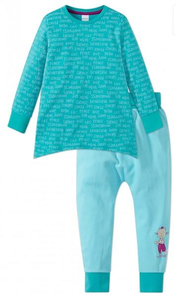 Schiesser Mädchen Zweiteiliger Schlafanzug Anzug lang 159259-807
