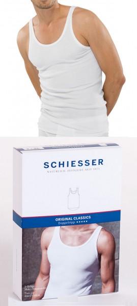 Herren Unterhemd Shirt ohne Arm 0/0 Doppelripp Schiesser 005067