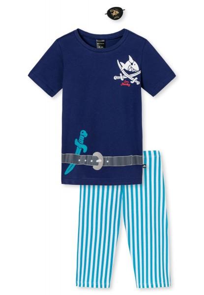 Schiesser Jungen Zweiteiliger Capt´n Sharky Knaben Schlafanzug kurz 161211-800