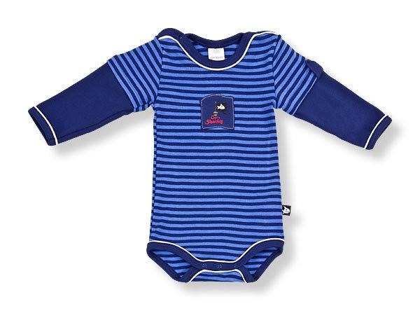 Baby Jungs Body Langarm Capt`n Sharky Haifisch Schiesser 130377