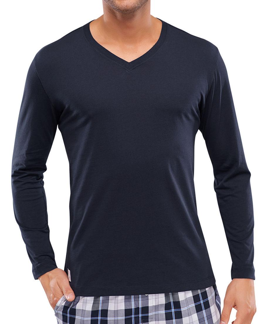 Shirt mit 1//1 Arm Knopfleiste Mix und Relax Schiesser
