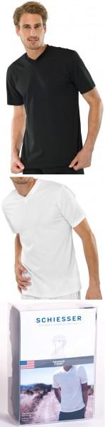 American-Shirt 2er-Pack V-Ausschnitt Schiesser 008151