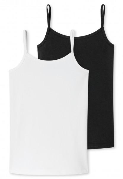 "Mädchen Spaghetti-Unterhemden ""Organic Cotton"" im Doppelpack"