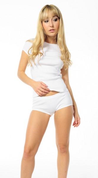 Damen Unterhemd viertel Arm 1/4 Shirt Rippe Schiesser 115300