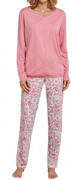 Schiesser Damen Zweiteiliger Schlafanzug Pyjama Lang 161077-522