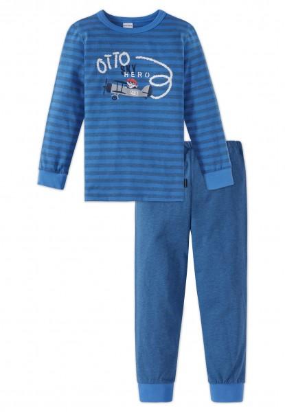 Schiesser Jungen Zweiteiliger Knaben Schlafanzug Lang