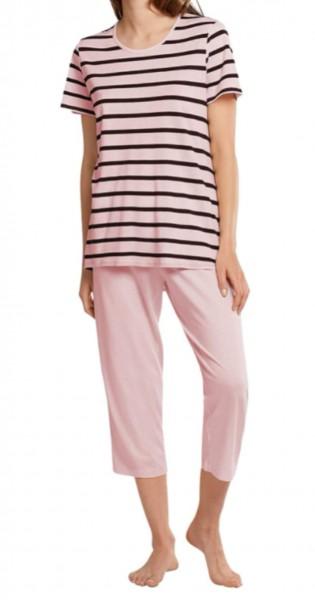 Schiesser Damen Schlafanzug 3/4 lang 1/2 Arm Pyjamaset, Zartrosa 174860-523