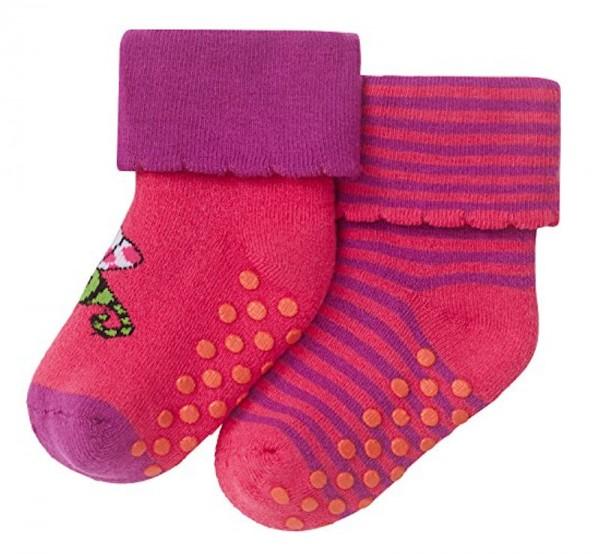 Mädchen Baby Socken 2er-Pack Antirutsch Schiesser 149063