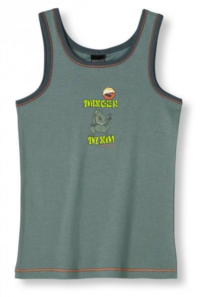 Jungen Unterhemd ohne Arm Danger Dino Schiesser 124019