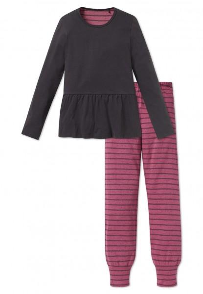 Schiesser Mädchen Zweiteiliger Schlafanzug Anzug lang 163226-203