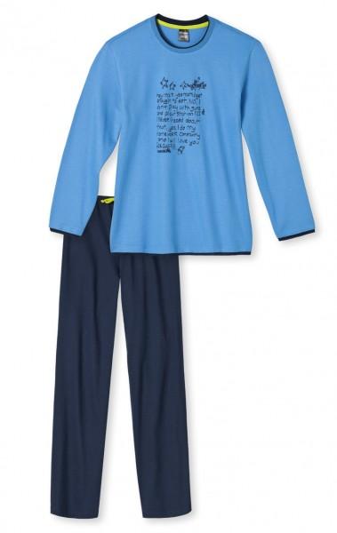 Jungen Nachtzeug Pyjama lang Schiesser 139908