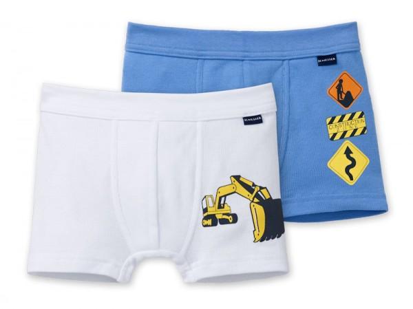 "Jungen Hip-Shorts Doppelpack ""Baustelle"" Schiesser 148544"