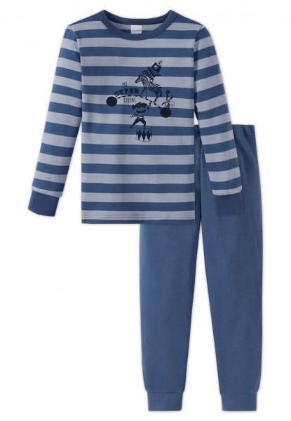 Schiesser Jungen Zweiteiliger Zirkus Strong Boy Knaben Schlafanzug Lang