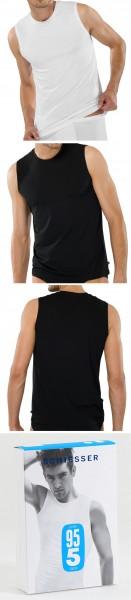 Herren Unterhemd Tank Top 95/5 Cotton-Stretch Schiesser 205418