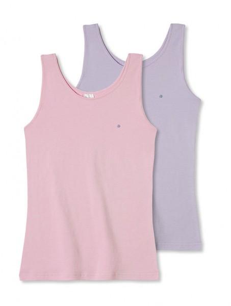 Mädchen Unterhemden ohne Arm 0/0 Top`s Doppelpack Schiesser 128697