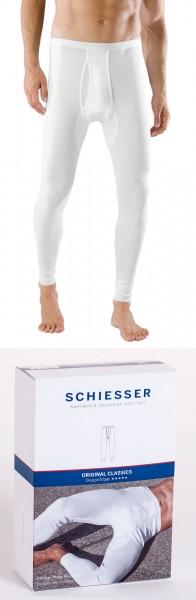 Herren Unterhose Doppelripp Hose 1/1 lang Schiesser 005050