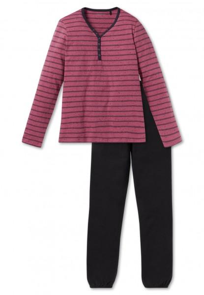 Schiesser Mädchen Zweiteiliger Schlafanzug Anzug lang 163225-525
