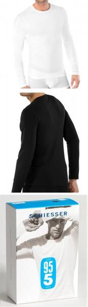Männer Unterhemd Shirt 1/1 Arm Rundhals 95/5 Cotton-Stretch Schiesser 205419