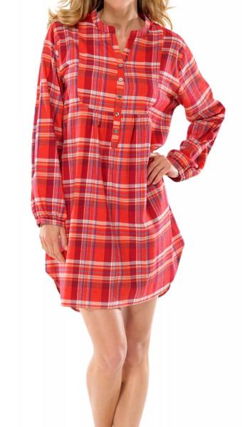Damen Nachthemd Sleepshirt Langarm Webflanell Schiesser 131387