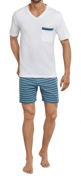 Schiesser Herren Schlafanzug Anzug Kurz  161184-204