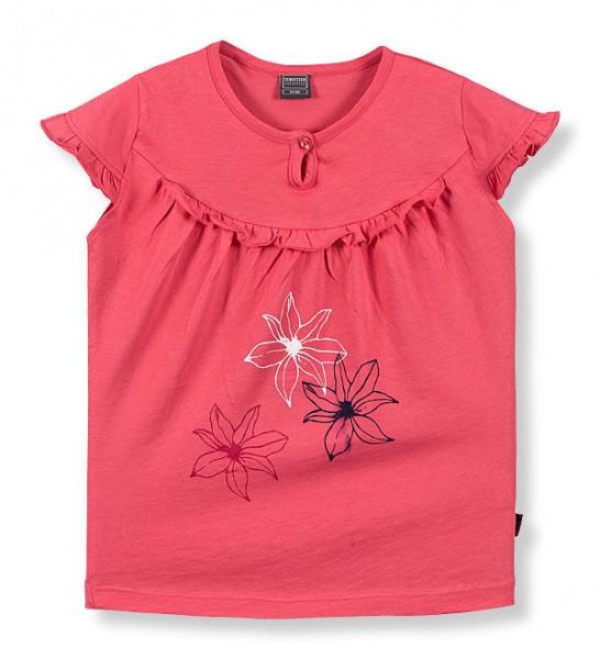 """Mädchen Shirt mit kurzem Arm 1/2 """"Flowers"""" Schiesser 128473"""