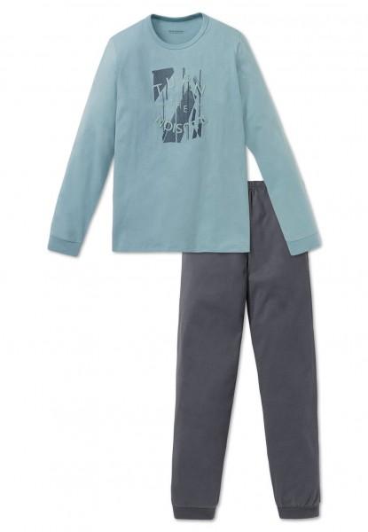 Schiesser Jungen Zweiteiliger Schlafanzug Anzug lang 163214-709