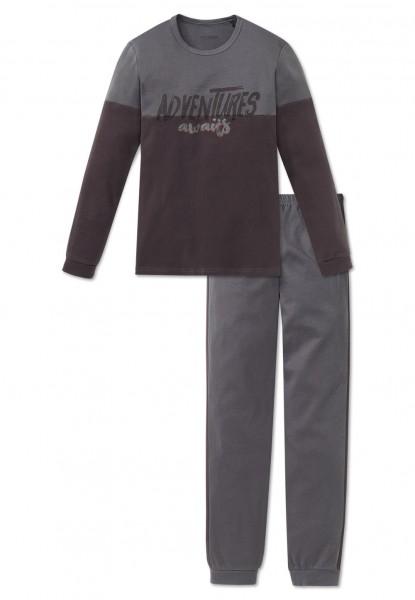 Schiesser Jungen Zweiteiliger Schlafanzug Anzug lang 163275-200
