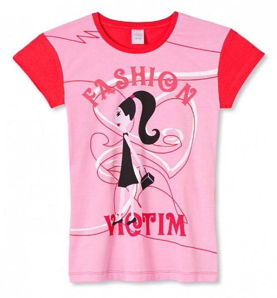 Mädchen Shirt Halbarm Fashion Victim Schiesser 129316