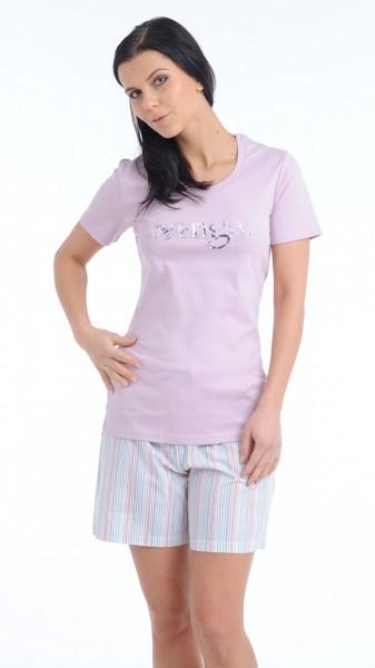 Damen Shirt Hemd Halbarm 1/2 Mix und Relax Schiesser 124676