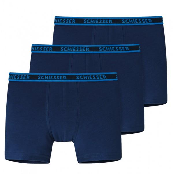 Jungen Shorts 3er-Pack Organic Cotton dunkelblau bis Grösse 140