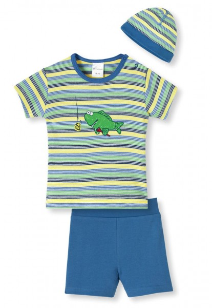 """Jungen Baby Anzug 3-teilig """"kleiner Angler"""" Schiesser 142351"""