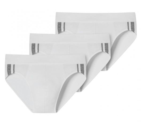 Rio-Slips 3er-Pack Organic Cotton Streifen weiß - 95/5 173815-100