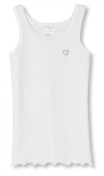 Mädchen Unterhemd Hemd ohne Arm 0/0 Swarovski® Ajourée Schiesser 129569