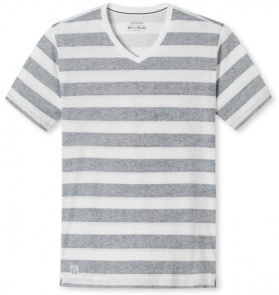 Shirt mit 1/2 Arm V-Ausschnitt Streifen Mix und Relax Schiesser 146859
