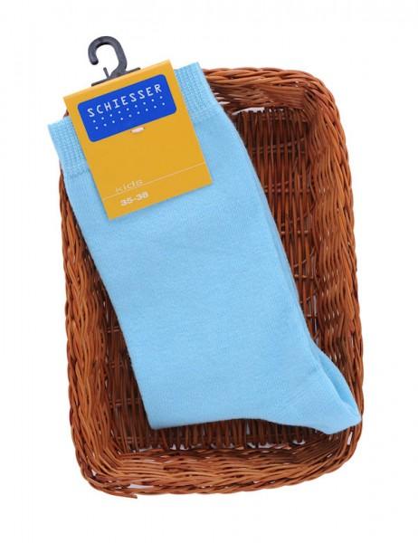Kinder Socke hellblau Schiesser 130937