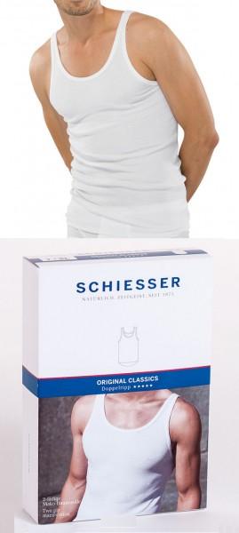 Männerunterhemd Shirt Doppelripp ohne Arm 0/0 Schiesser 005067