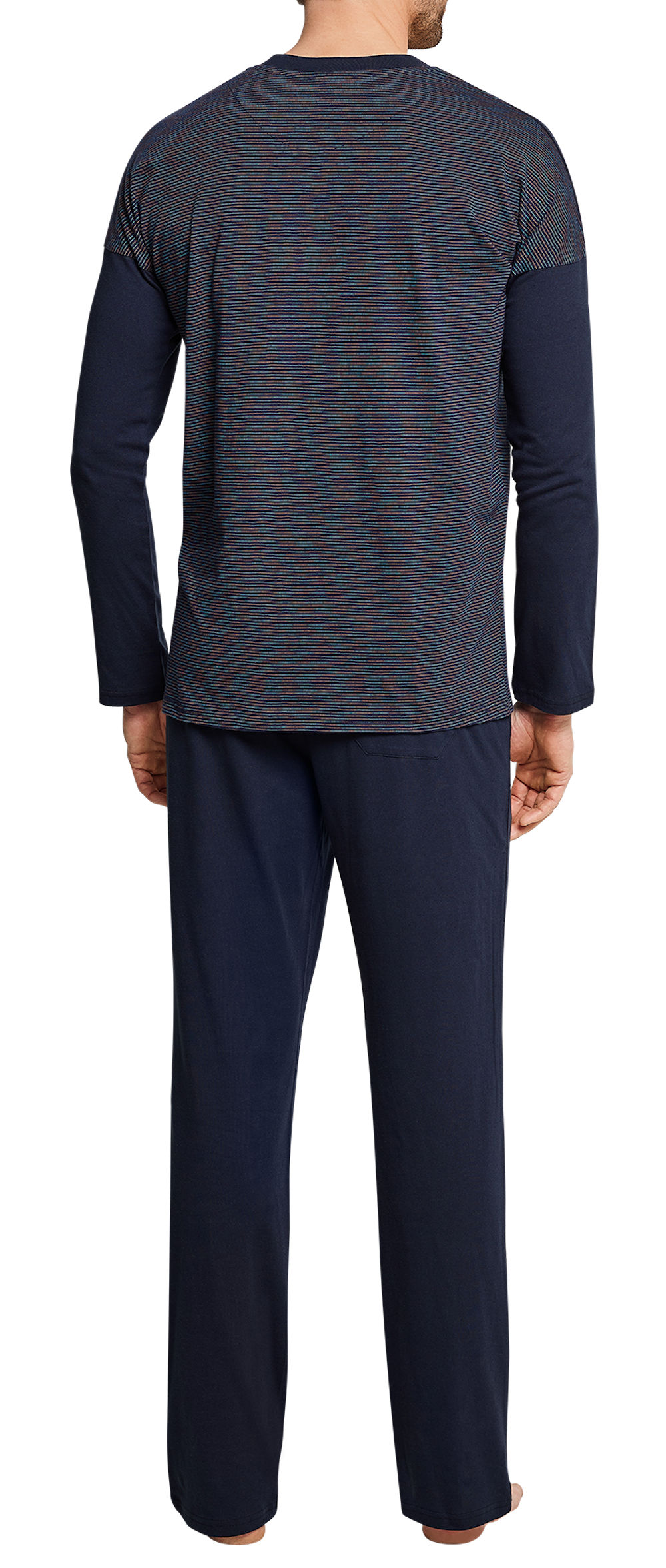 Schiesser Herren Anzug Lang Zweiteiliger Schlafanzug