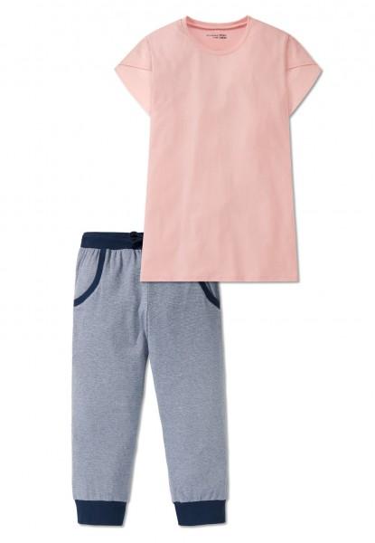 Schiesser Mädchen Zweiteiliger Schlafanzug Anzug 3/4 166167-503