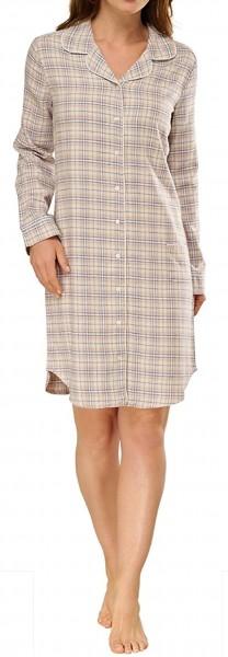 Schiesser Damen Nachthemd Sleepshirt 1/1, 95cm, Flanell
