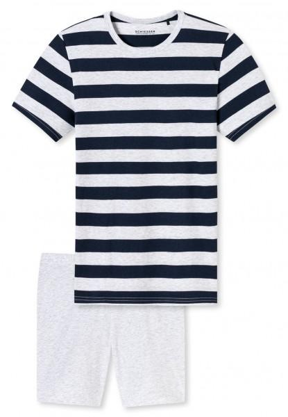 Schiesser Jungen Zweiteiliger Schlafanzug Anzug kurz 169797-804