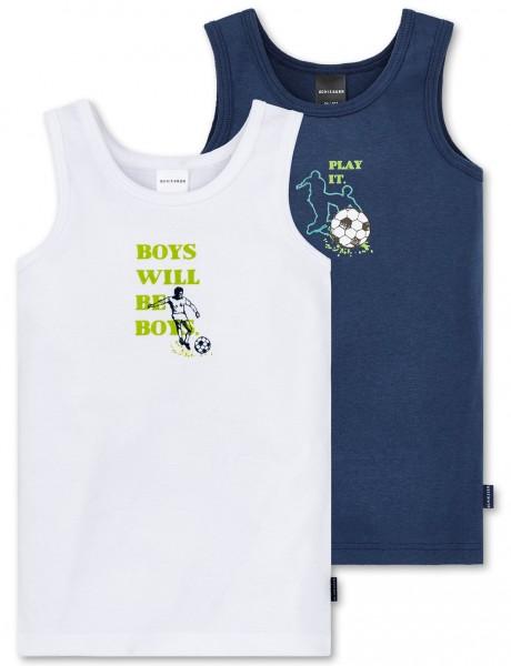 """Jungen Hemden Doppelpack """"Fussball"""" Schiesser 160495"""