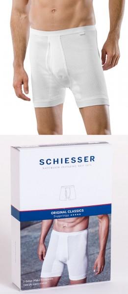 Herren Unterhose Doppelripp Hose kurz Schiesser 005048