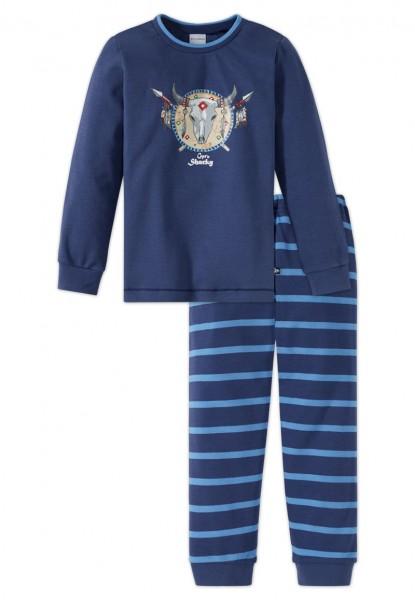 Schiesser Jungen Zweiteiliger Capt´n Sharky Knaben Schlafanzug Lang