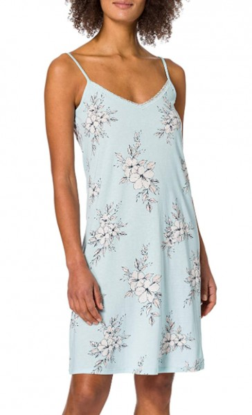 Schiesser Damen Sleepshirt Spaghetti, 90cm Nachthemd, Mint 173754-708