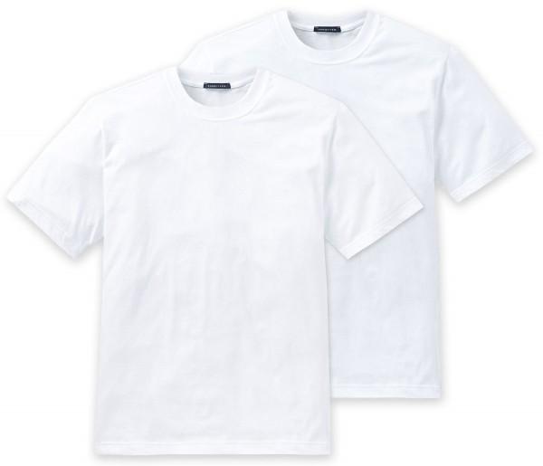 Herren American Shirt Halbarm 1/2 Rundhals 2er-Pack Schiesser 008150