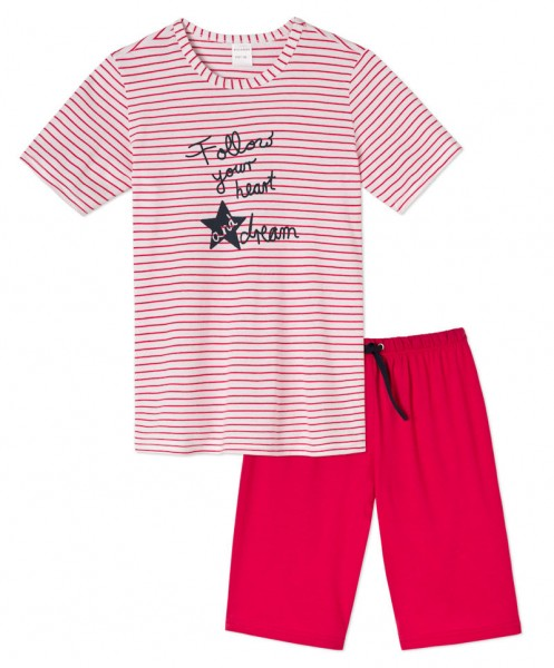 "Mädchen Pyjama kurz ""Follow your heart and dream"" Schiesser 141346"