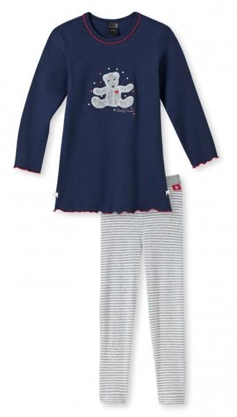 "warmer Mädchen Pyjama lang ""Lovely Travel"" Schiesser 139616"