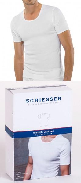 Herren Unterhemd Shirt Halbarm 1/2 Doppelripp Schiesser 005068