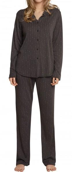 Schiesser Damen Zweiteiliger Schlafanzug Pyjama Lang 158572-004